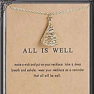 """Necklace """"All is Well"""""""